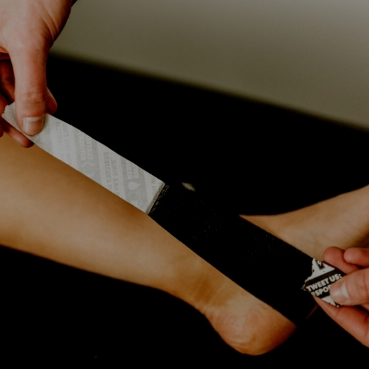 The Kinesiology Tape Ankle Application