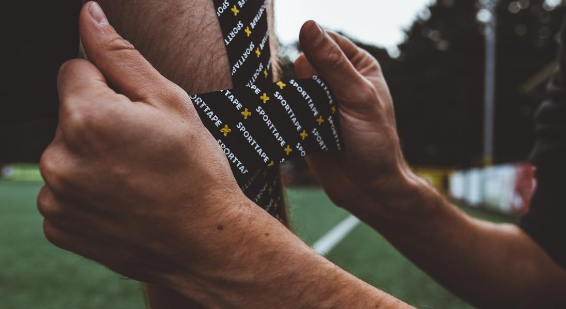 How to handle K Tape for sports taping