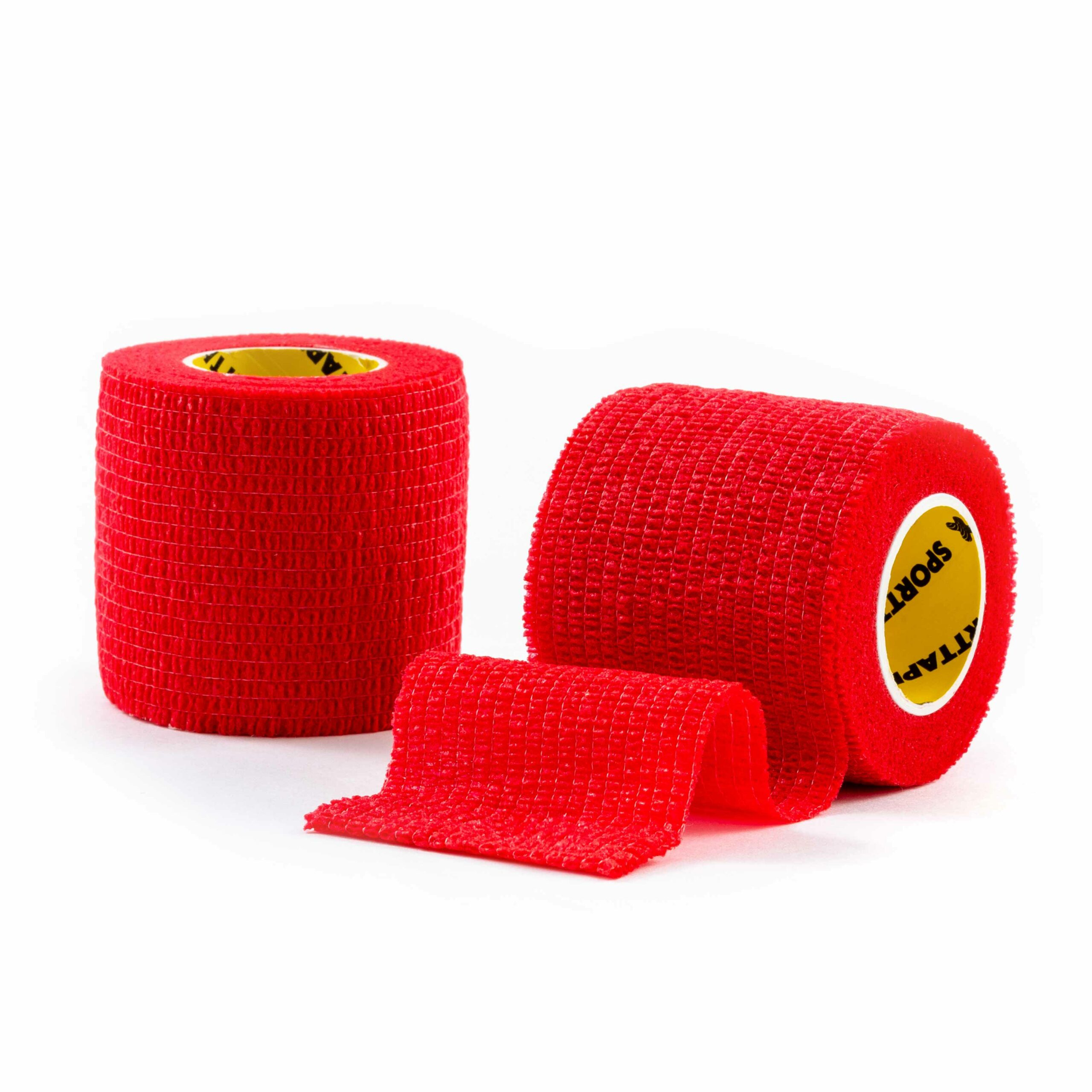 Cohesive Tape Red 5cm 2 Rolls
