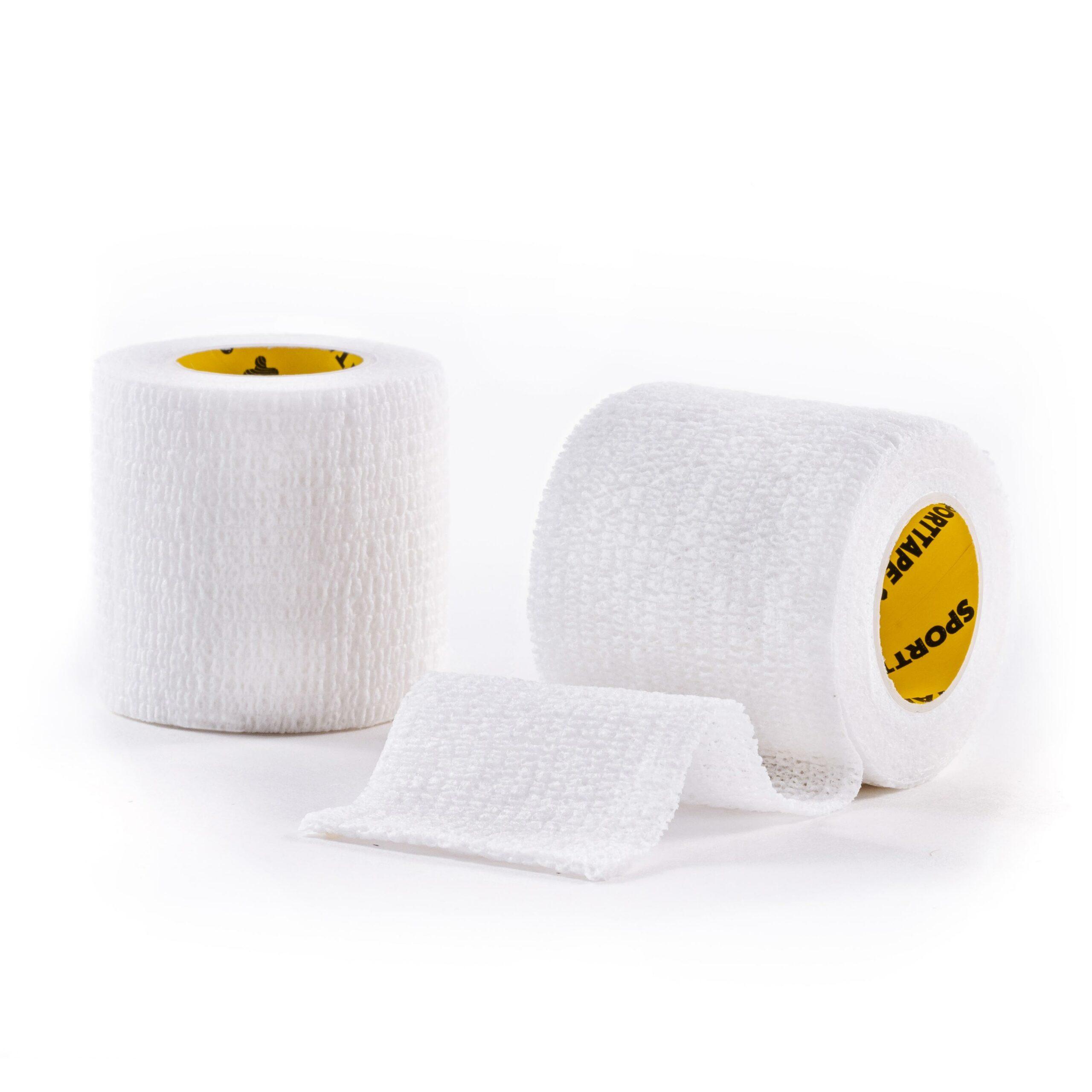 Cohesive Tape White 5cm 2 Rolls