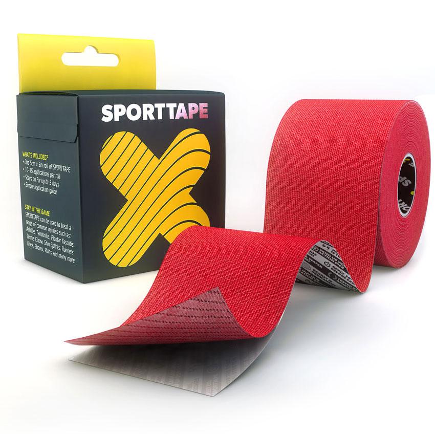 Kinesiology-Tape-Extra-Sticky-Red-5cm-SPORTTAPE