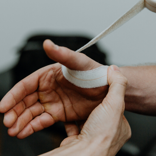 How to strap a thumb for thumb sprain