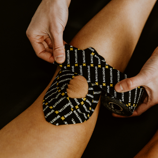 the strapping patella knee maltracking taping application