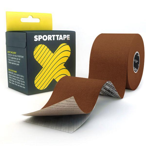 Kinesiology-Tape-Extra-Sticky-Light-Brown-5cm-SPORTTAPE